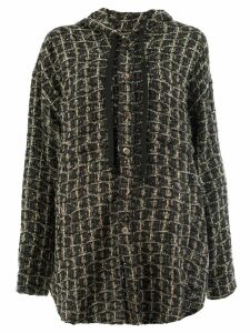 Faith Connexion hooded tweed cardigan - Black