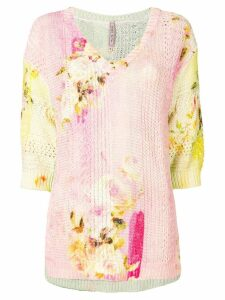 Antonio Marras floral print jumper - Multicolour