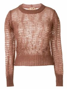 Nº21 loose weave longsleeved sweater - Pink