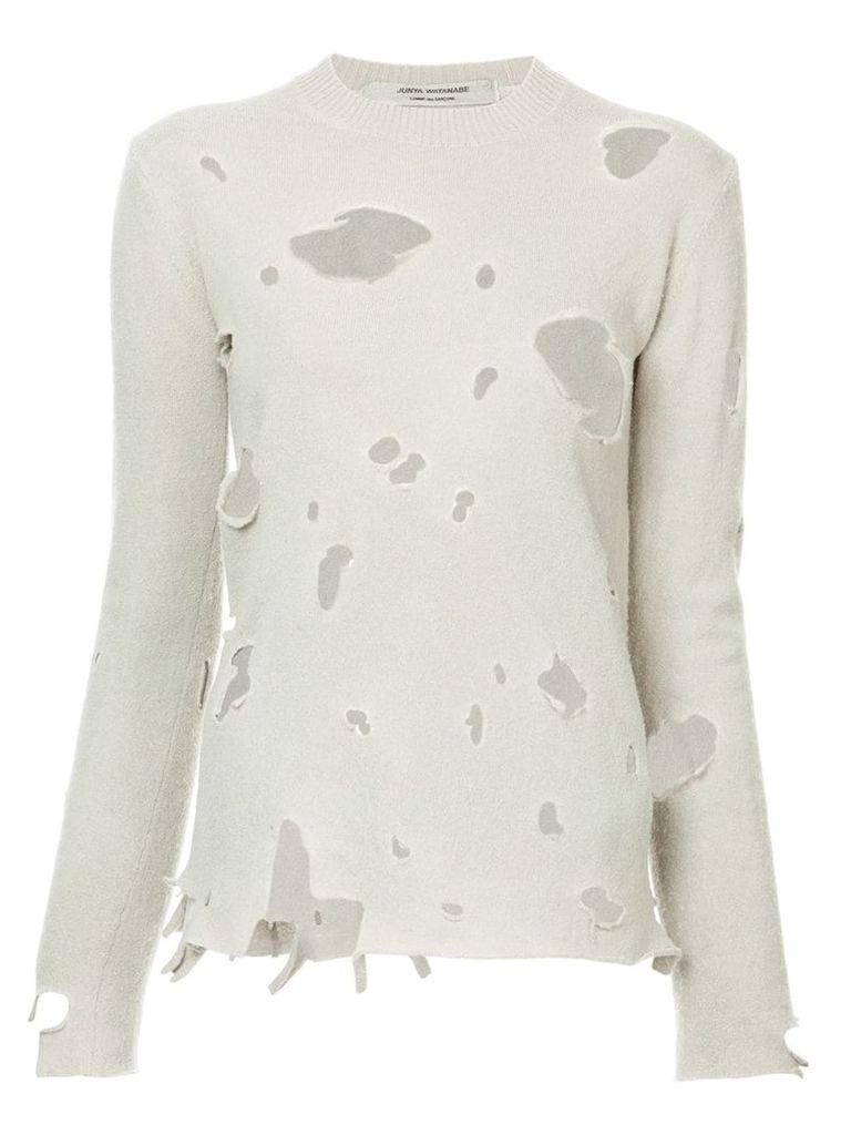 Junya Watanabe Comme Des Garçons Vintage distressed knitted jumper -