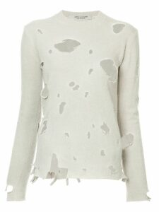 JUNYA WATANABE COMME DES GARÇONS PRE-OWNED distressed knitted jumper -