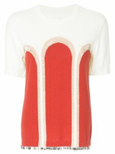 Onefifteen embellished knit top - White