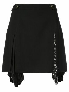 Givenchy pleat insert kilt - Black