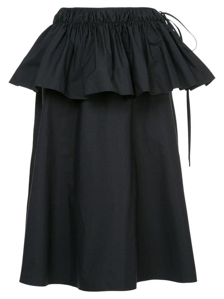 Jil Sander peplum midi skirt - Blue