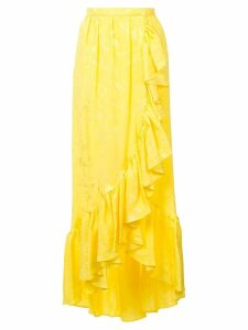 Attico long ruffled skirt - Yellow