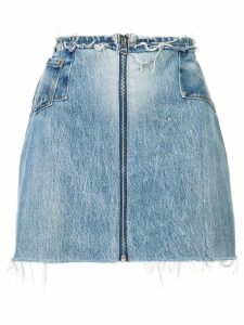Re/Done raw zipped skirt - Blue