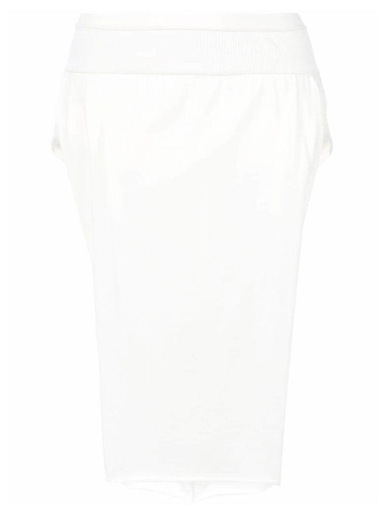 Rick Owens side slit skirt - White