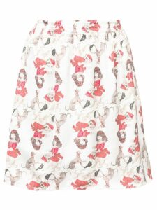 UNDERCOVER girl print skirt - White