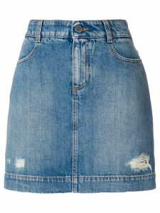 Stella McCartney fitted denim skirt - Blue