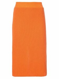 Calvin Klein 205W39nyc ribbed skirt - Yellow