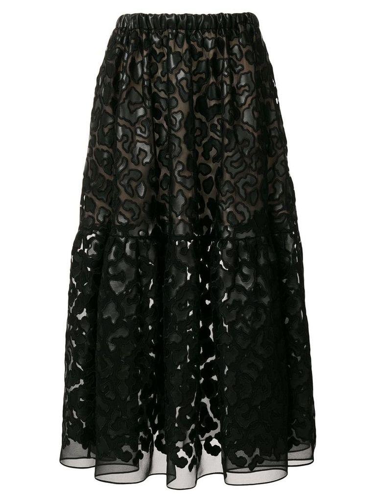 Stella McCartney textured sheer skirt - Black