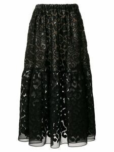 Stella McCartney textured sheer skirt - Black