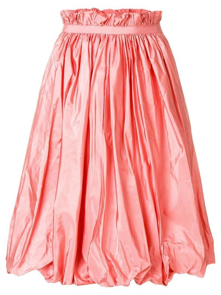 Alexander McQueen taffeta midi skirt - Pink
