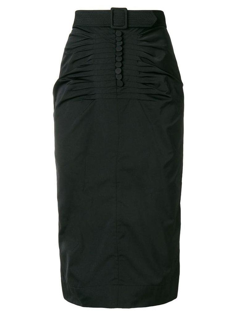 Nº21 belt detail skirt - Black