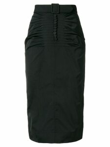 Nº21 belt detail skirt - Black