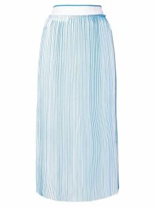 Victoria Victoria Beckham midi pleated skirt - Blue