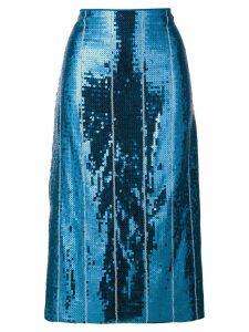 Victoria Victoria Beckham sequin embellished skirt - Blue