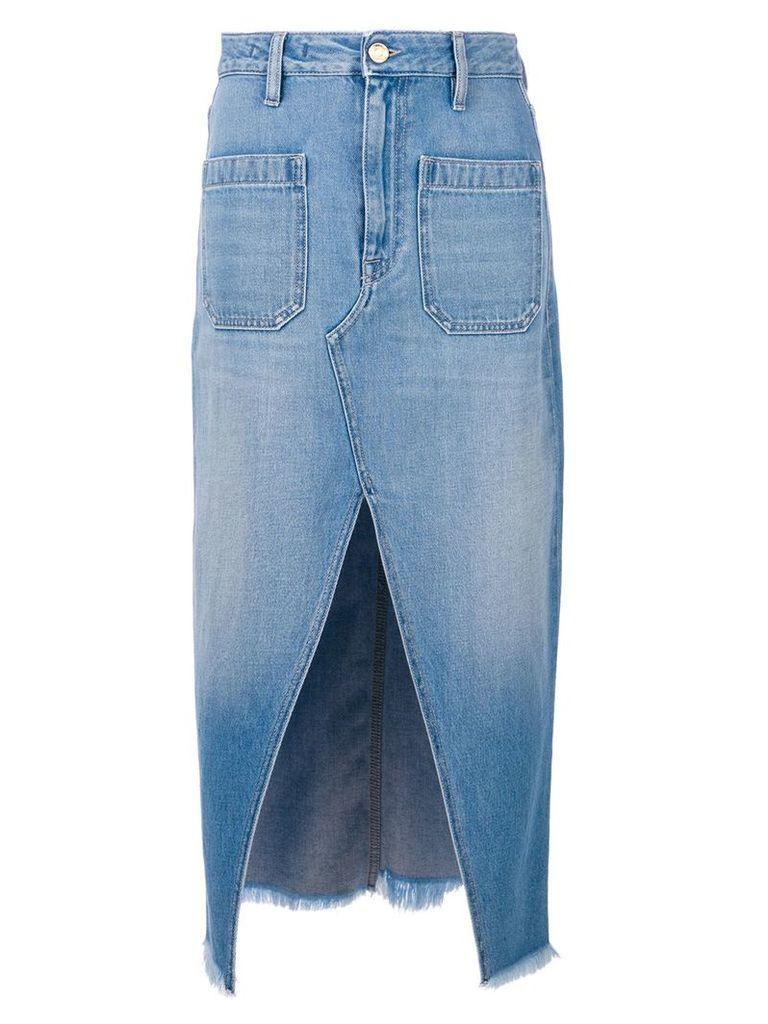 The Seafarer denim midi skirt - Blue