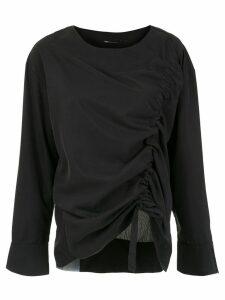 Uma Raquel Davidowicz draped Chef blouse - Black