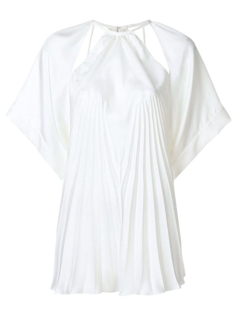 Maison Margiela cut out pleat detail top - White
