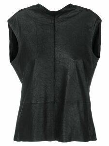 Vanderwilt fitted sleeveless blouse - Black