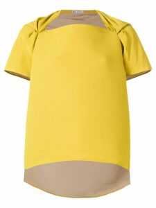 Maticevski asymmetric boxy blouse - Yellow