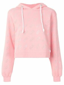 Gcds monogram hooded sweatshirt - Pink