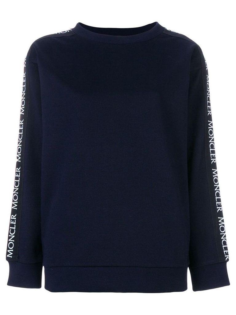 Moncler crew neck sweatshirt - Blue