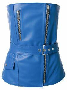 Manokhi zipped biker top - Blue