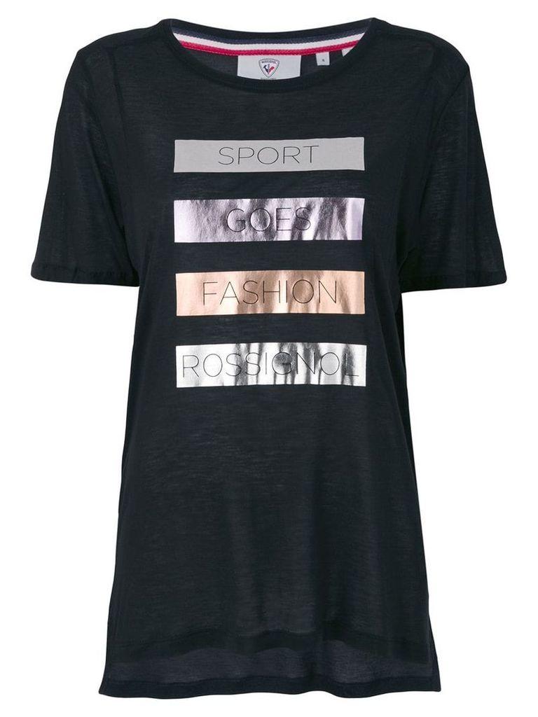 Rossignol laminated print T-shirt - Black
