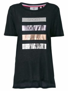 Rossignol laminated print T-shirt - Black