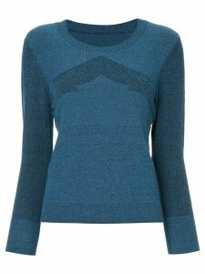 Onefifteen knitted chevron top - Blue