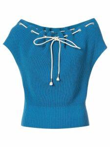 Calvin Klein 205W39nyc drawstring loose sweater - Blue