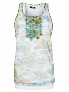 Dsquared2 tulle-layered tank top - Multicolour