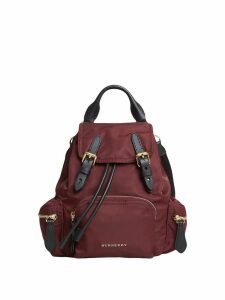 Burberry The Crossbody Rucksack in nylon and leather - Pink