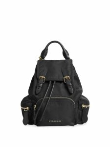 Burberry The Crossbody Rucksack in nylon and leather - Black