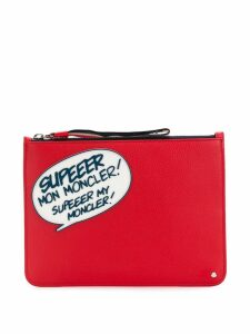 Moncler comic clutch - Red