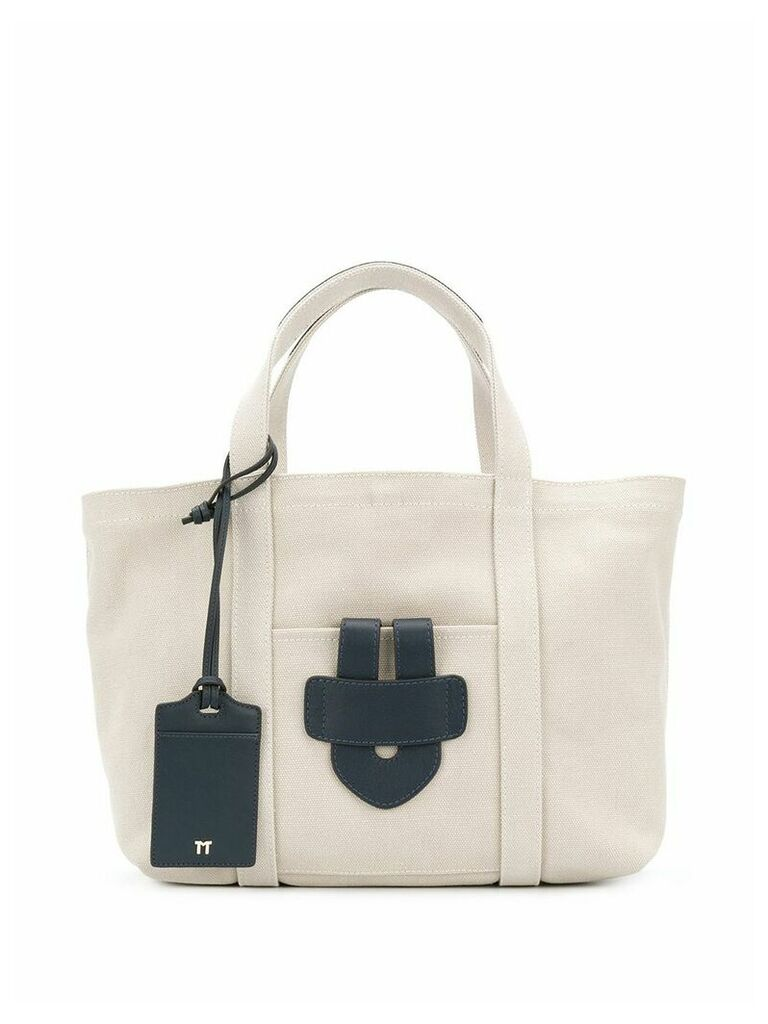 Tila March Simple small tote bag - Neutrals