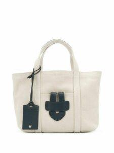 Tila March Simple small tote bag - Neutrals