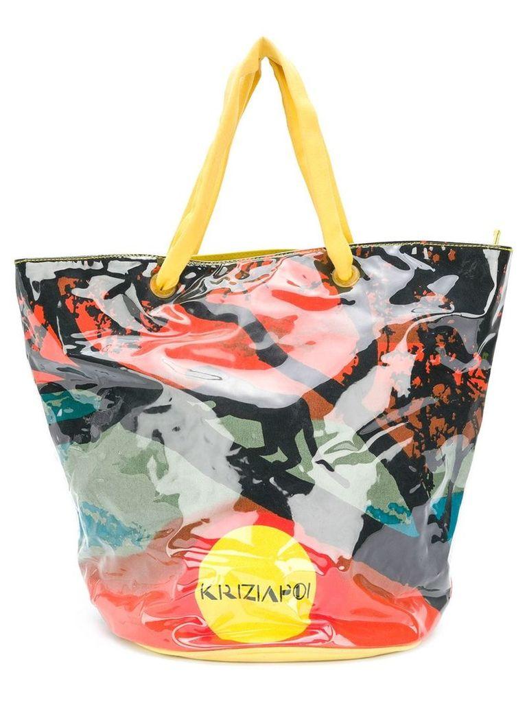 Krizia Vintage printed tote bag - Multicolour
