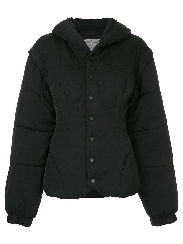 Yohji Yamamoto Vintage fitted puffer coat - Black