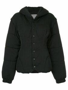 Yohji Yamamoto Pre-Owned fitted puffer coat - Black