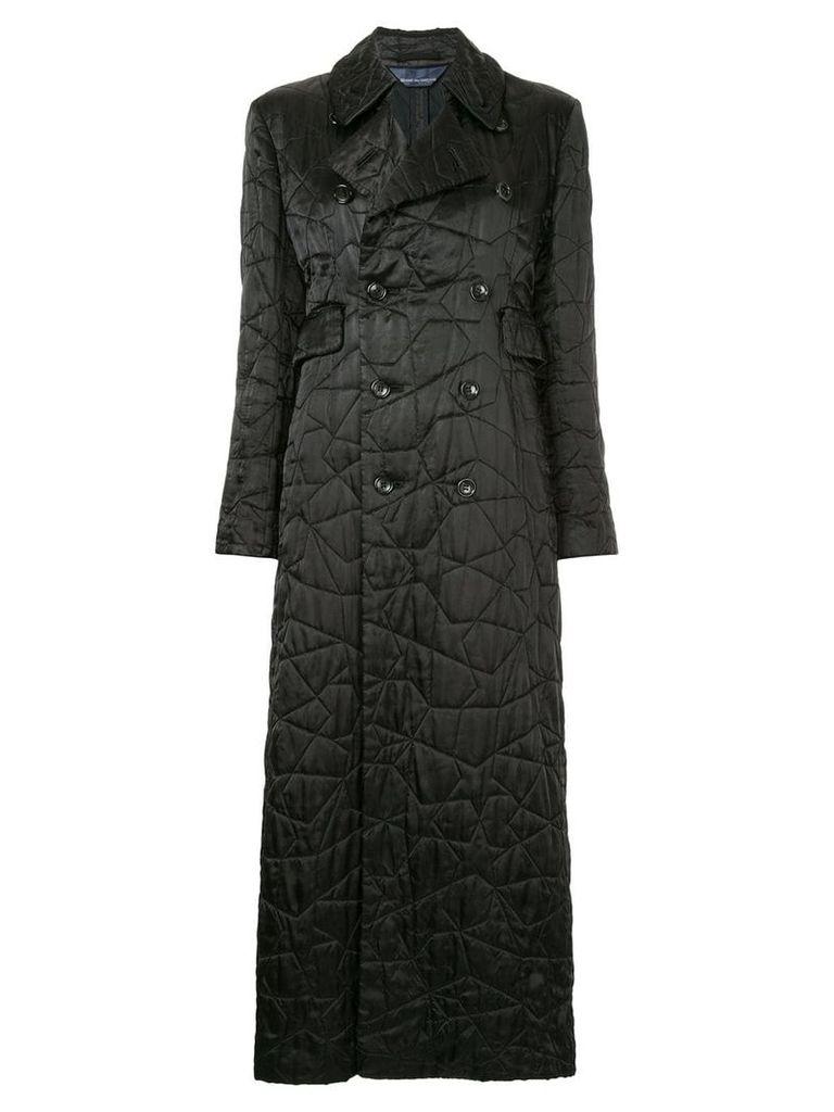 Comme Des Garçons Vintage embroidered star padded coat - Black