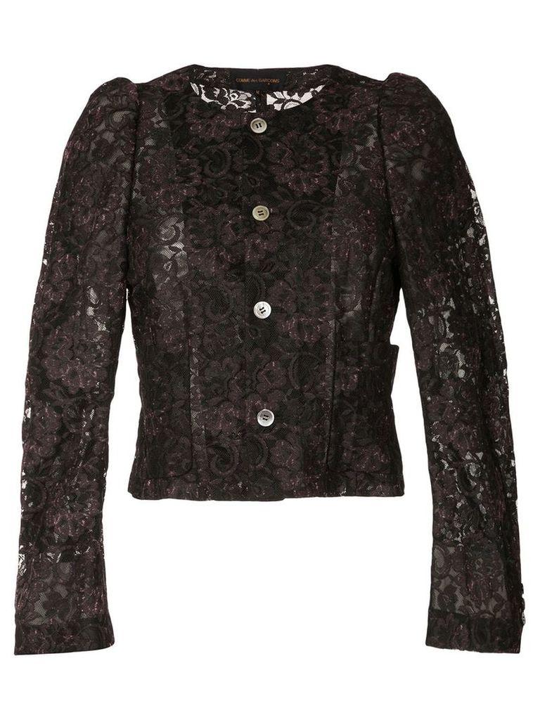 Comme Des Garçons Vintage lace structured jacket - Black