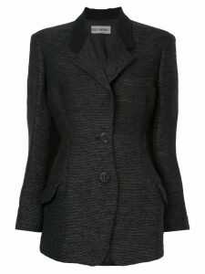 Issey Miyake Pre-Owned structured fitted blazer - Black