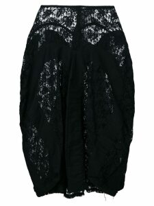 Junya Watanabe Comme des Garçons Pre-Owned draped lace skirt - Black