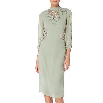 Raishma Embellished Frill Cocktail Dress