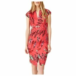 Damsel in a Dress Bria Snake Palm Print Dress, Coral/Multi