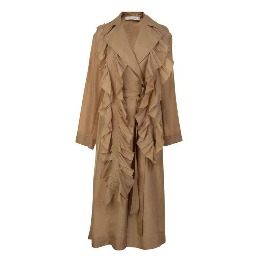 VICTORIA BY VICTORIA BECKHAM Silk Trench Coat