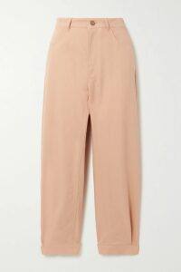 ViX - Mani Julie Belted Striped Voile Maxi Dress - Blush